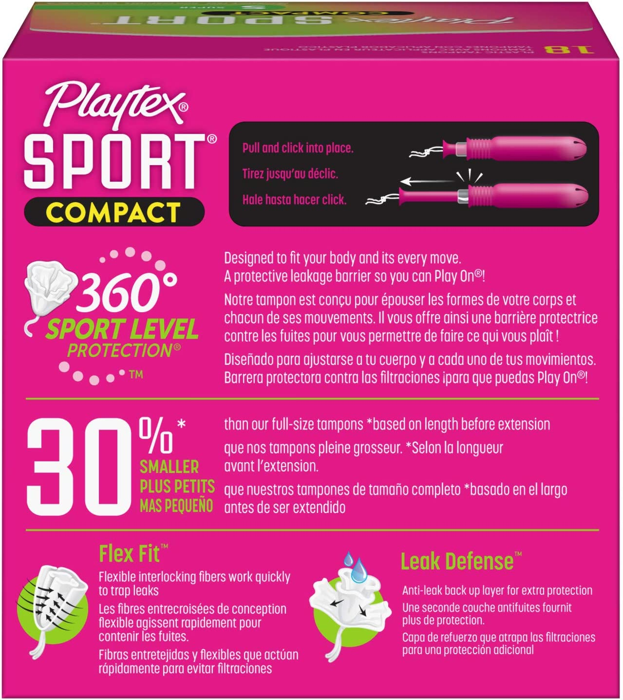 Tampones compactos de superabsorción Playtex Sport con ...