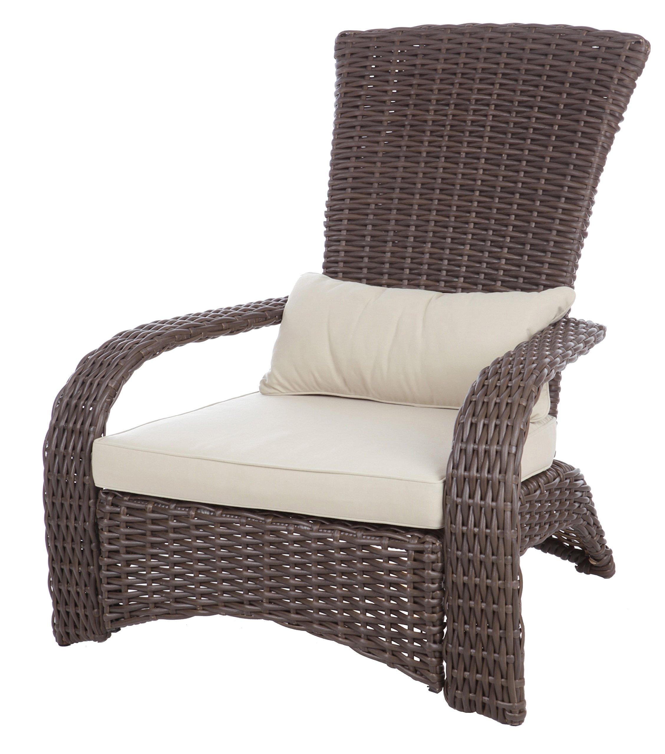 Fire Sense 62172 Deluxe Coconino Wicker Chair, Mocha by Fire Sense
