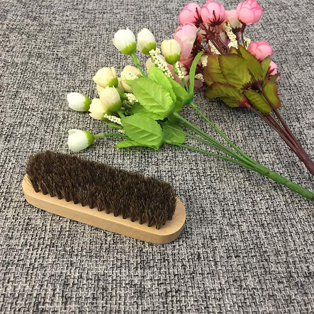HOPQ Horsehair Shoe Shine Brush Cleaning Brush Leather Car Interior Detailing Brushes