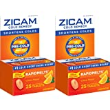 Zicam Cold Remedy RapidMelts Citrus Flavor Quick Dissolve Tablets, 25 Count (Pack of 2), Homeopathic Pre-Cold Medicine for Shortening Colds