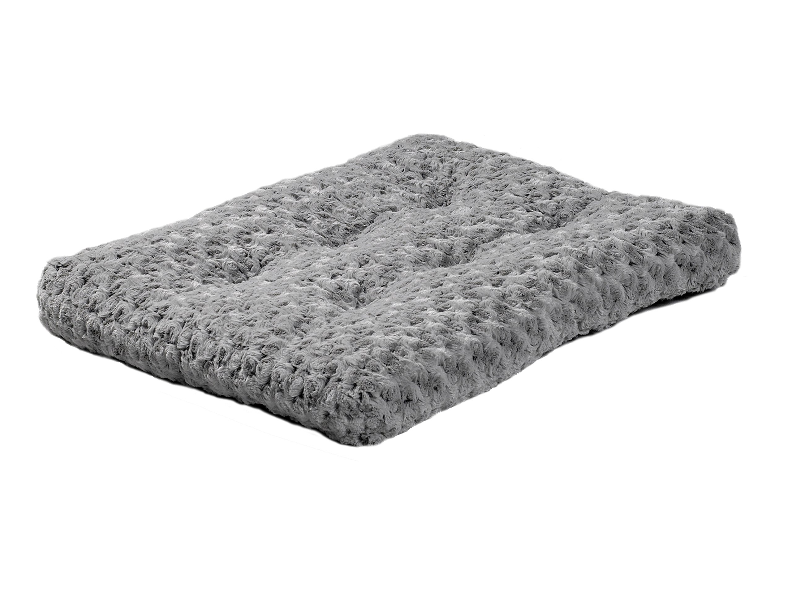 MidWest Homes for Pets Plush Pet Bed | Ombré Swirl Dog Bed & Cat Bed | Gray 23L x 18W x 1.75H -Inches for Small Dog Breeds