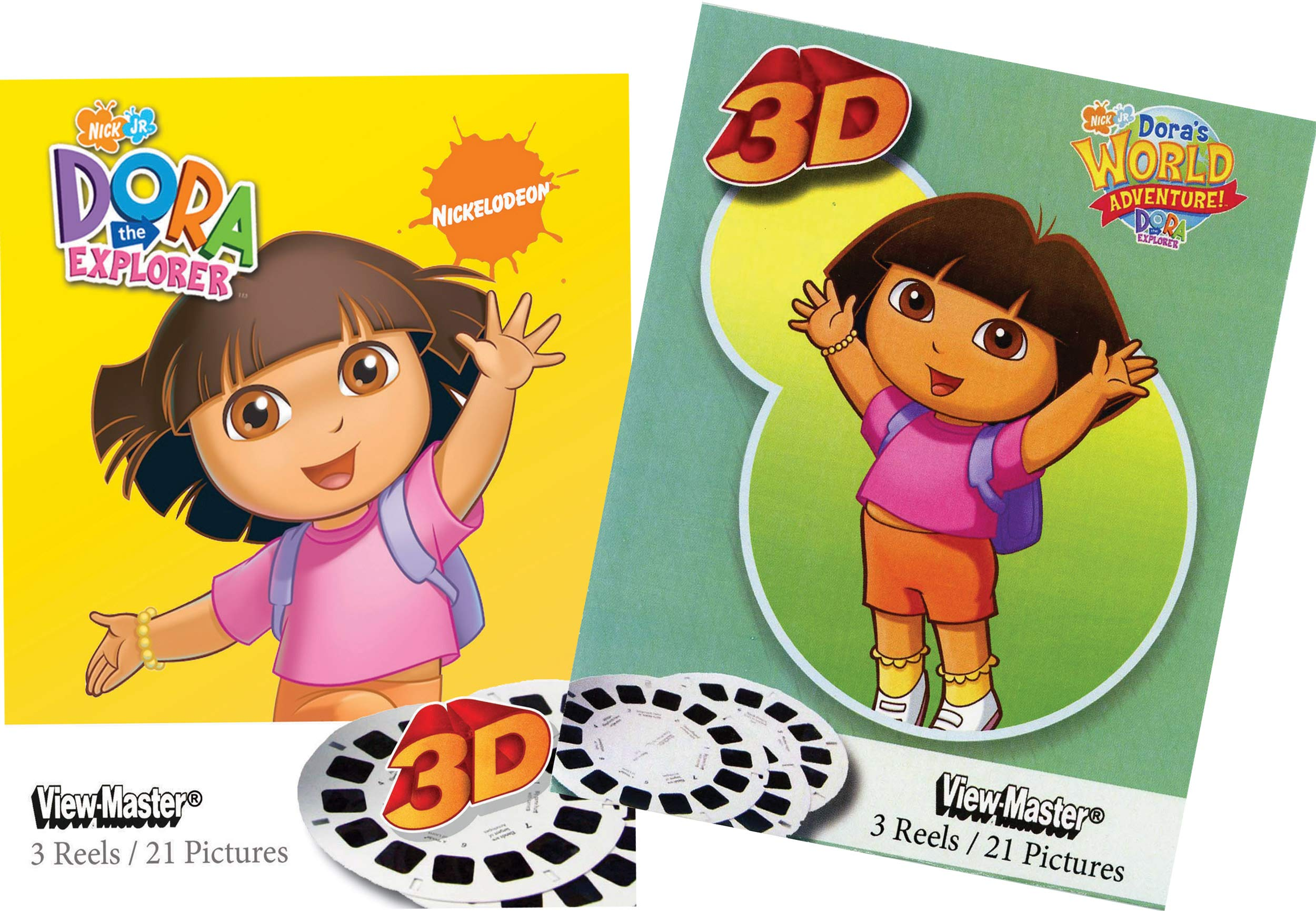 Dora The Explorer - Deluxe Set - 6 Reels - Classic ViewMaster by 3Dstereo ViewMaster