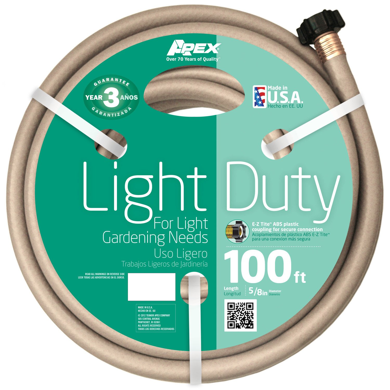 Amazon.com : Apex 8400 100, Light Duty Garden Hose, 5/8 Inch By 100 Feet :  Garden U0026 Outdoor
