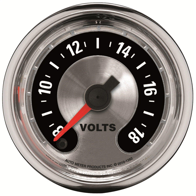 Auto Meter 1282 American Muscle 2-1/16'' Voltmeter Gauge by Auto Meter