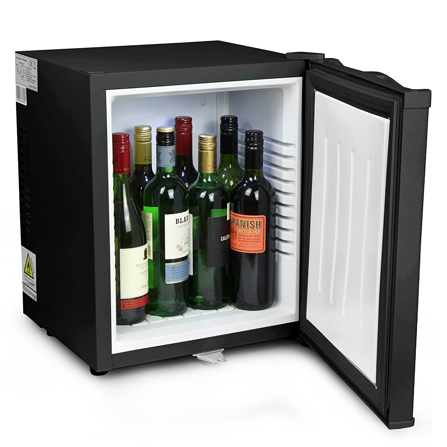 bar@drinkstuff ChillQuiet Silent Mini Fridge 24ltr Black - Completely Quiet Mini Bar, Ideal for Hotels and B&Bs