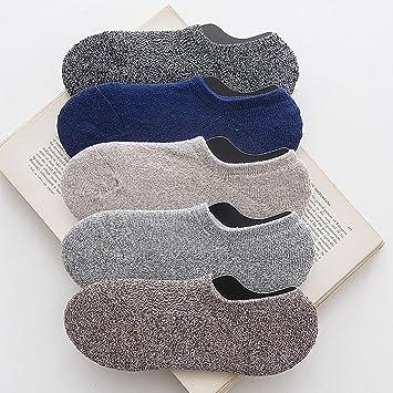 YILIAN wazi Calcetines Retro Delgados de los Hombres del algodón Calcetines Bajos de la Ayuda Calcetines