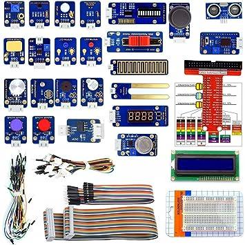 Sensational Adeept 24 Modules Sensor Starter Kit For Raspberry Pi 3 2 B B Wiring Digital Resources Dimetprontobusorg