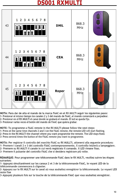 BFT Sommer et plus de marque FAAC armoire de commande Universelle pour Volet Roulant et Portail Rideau Roulant compatible avec Somfy Dooya Nice