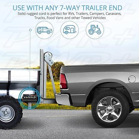 81HNqtHBBEL._SX466_ amazon com pwr 10 ft long roj black 7 way inline trailer cord  at gsmportal.co