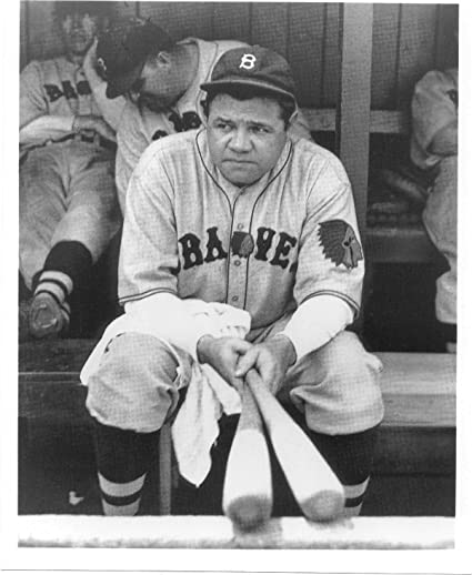 huge discount c5992 8509c Amazon.com: Babe Ruth Boston Braves 8x10 Photo #48 ...