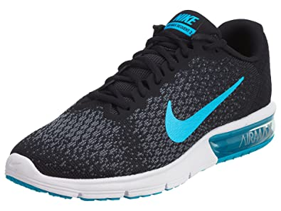 brand new 00320 a26c7 ... promo code for nike air max sequent 2 black chlorine blue anthracite  cool grey mens running