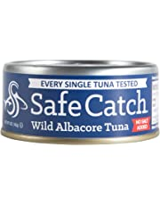 Safe Catch Wild Albacore Tuna No Salt Added, 5 oz 12 pack