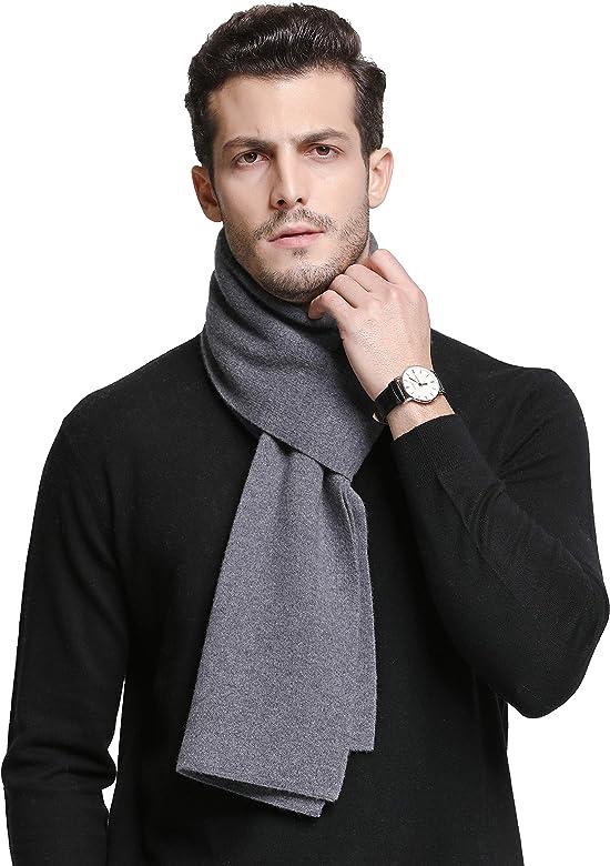 RIONA Bufanda de lana merina australiana 100% de punto suave y ...