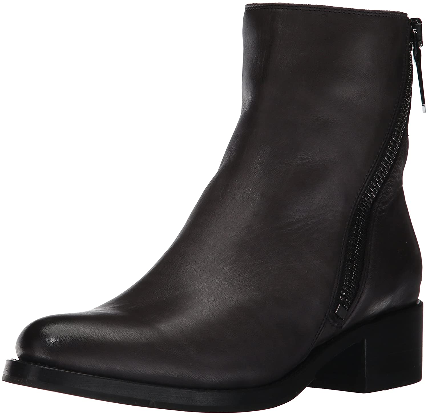 FRYE Women's Demi Zip Bootie Boot B01MS3T12R 8.5 B(M) US|Charcoal Polished Soft Full Grain