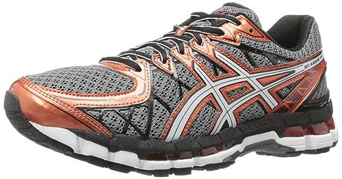 Asics Gel Kayano 20 Mens Running Shoes White Orange Black