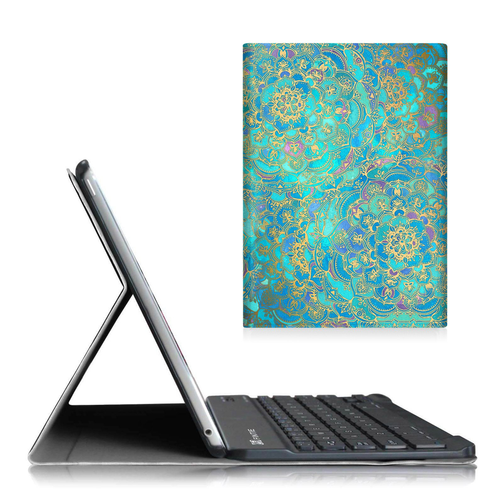 Fintie Blade X1 iPad Air 2 Keyboard Case - Slim Shell Lightweight Stand Cover with Magnetically Detachable Wireless Bluetooth Keyboard for Apple iPad Air 2 (2014 Model), Shades of Blue by Fintie