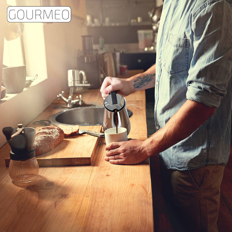 Amazon GOURMEO Espressokocher aus Edelstahl für 6 Tassen