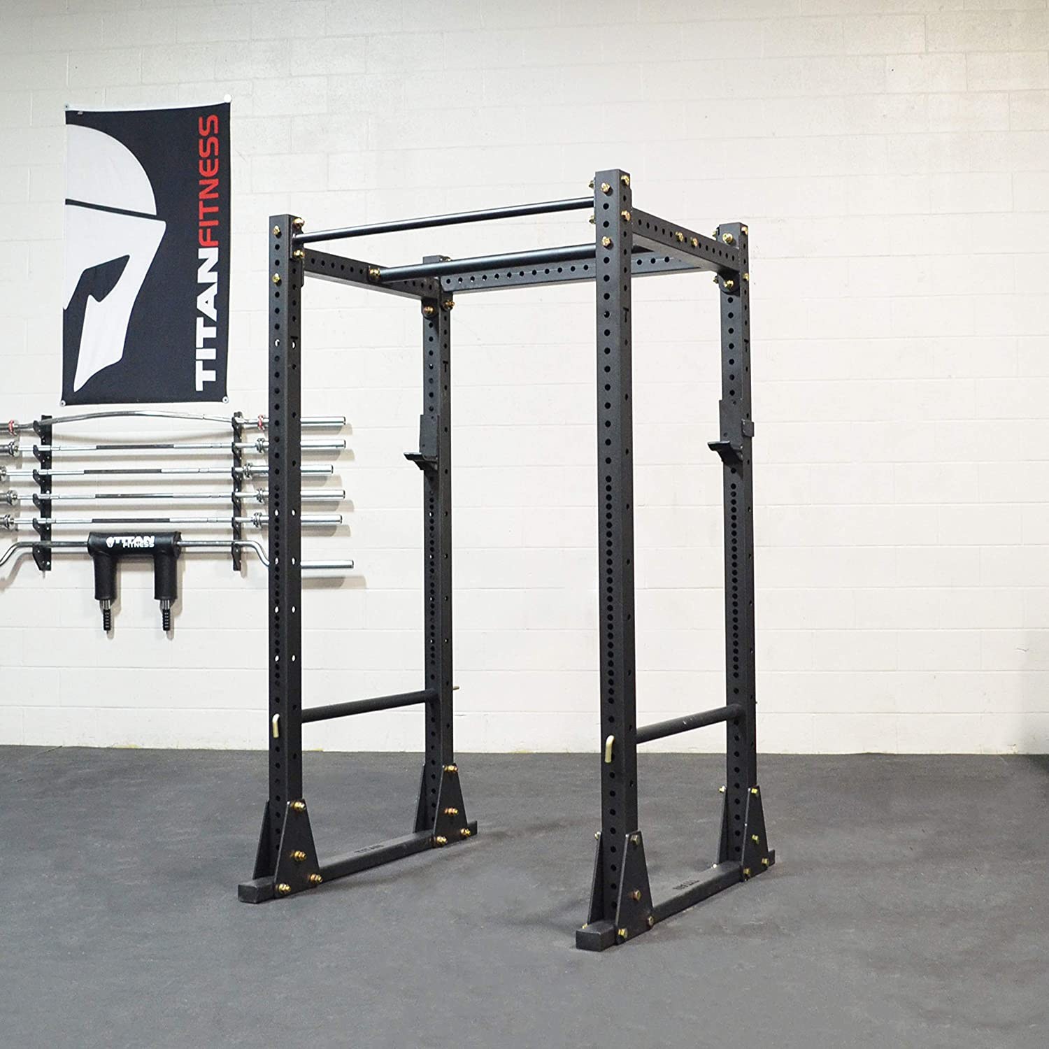 Titan Fitness X-3 Series Flat Foot Power Rack Short
