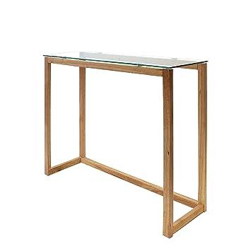 THE HOME DECO FACTORY hd3803 Konsole Holz + Glas transparent ...
