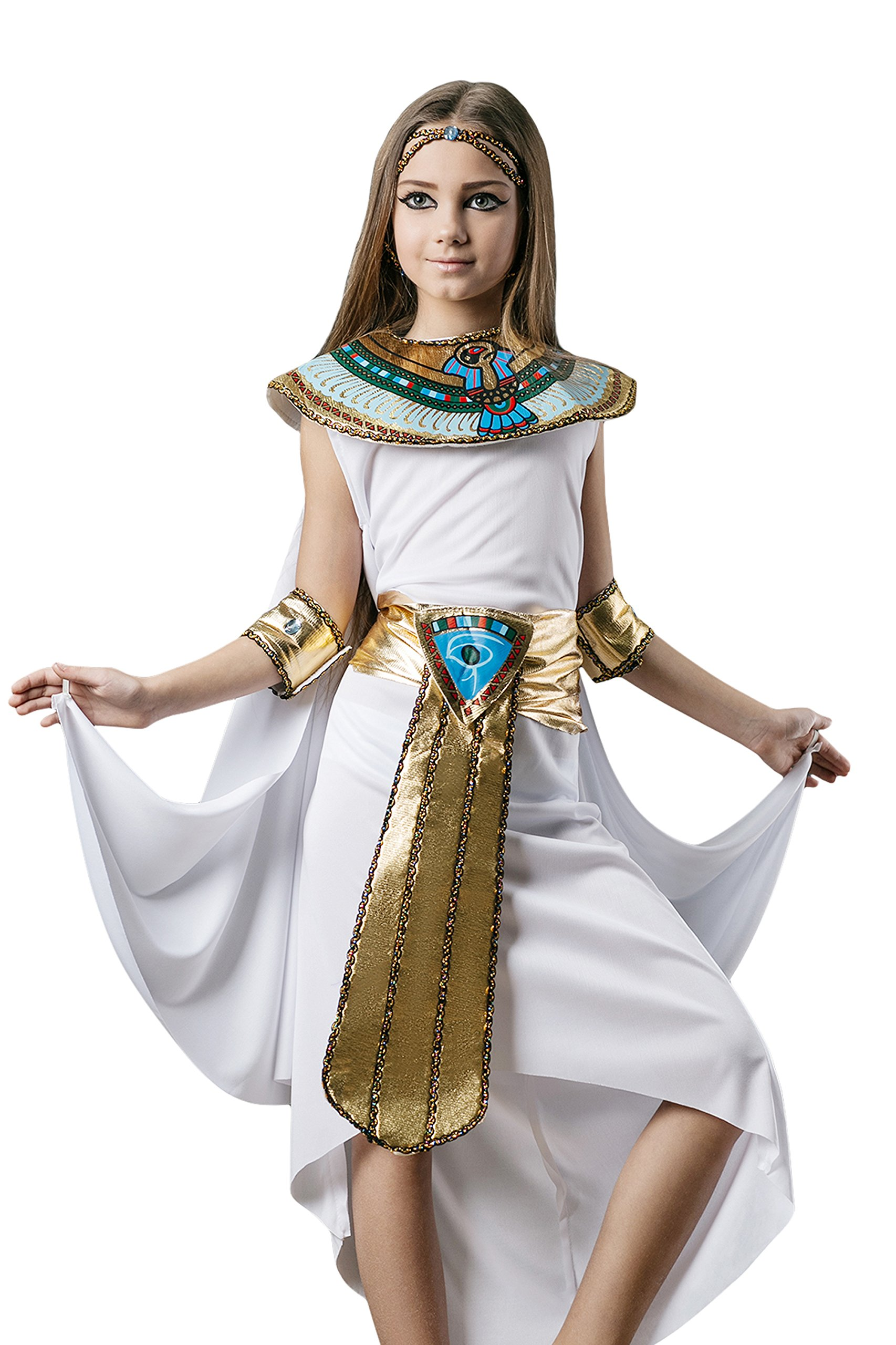 Kids Girls Cleopatra Halloween Costume Egyptian Princ... FREE ...