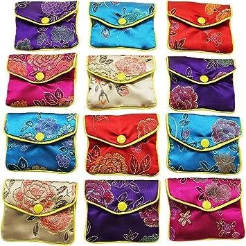 Amazon.com: MorTime - Bolsitas de seda para joyería, varios ...