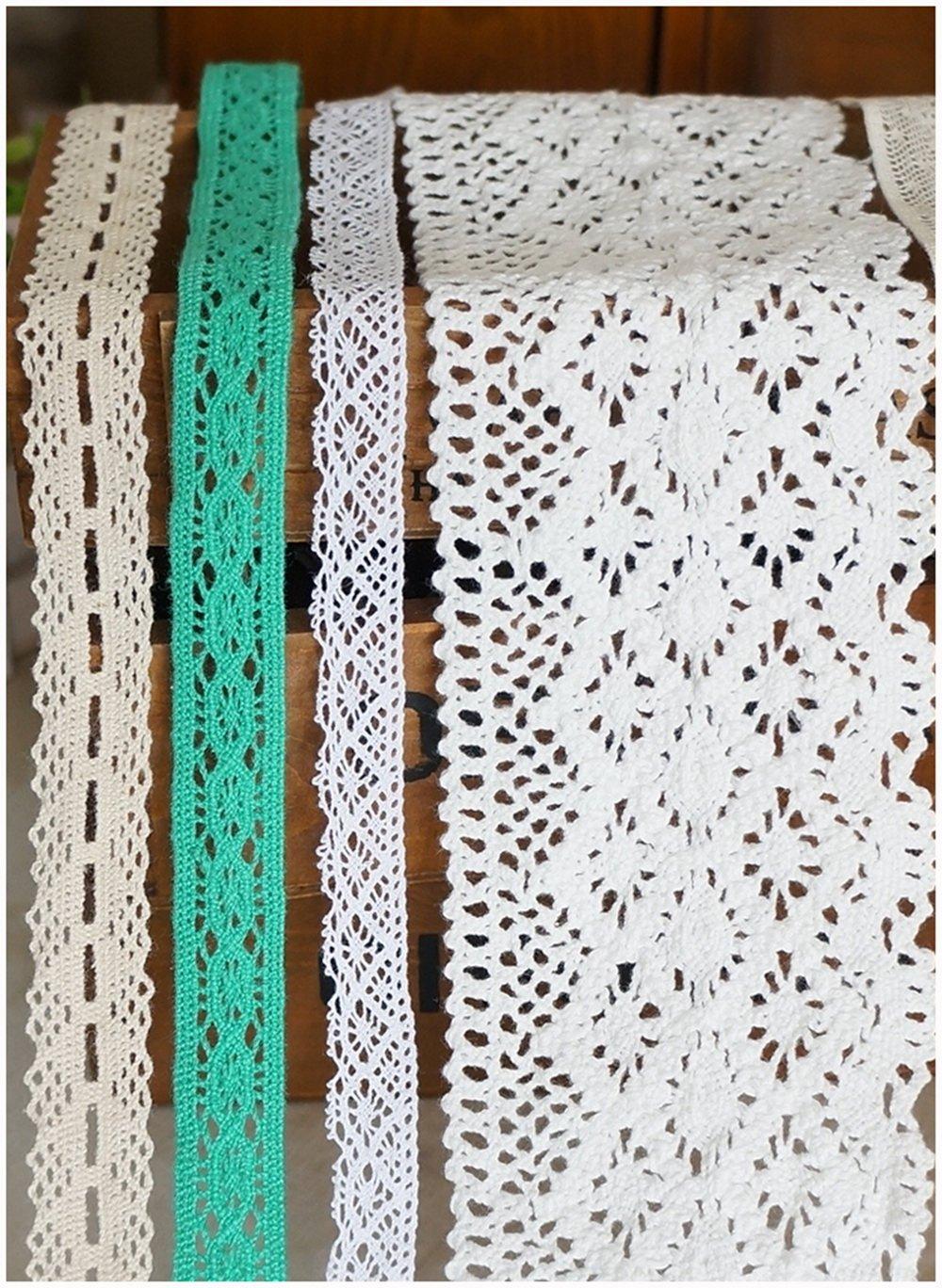 Raylinedo 20 metros retales de algodón estilo Vintage cinta de ...