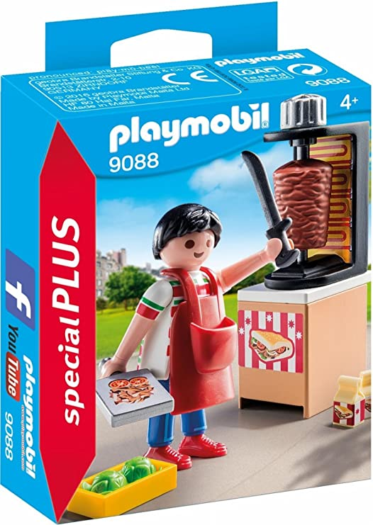 PLAYMOBIL Especiales Plus- Vendedor de Kebab, única (9088): Amazon ...