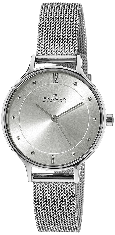 Amazon.com: Skagen Women\'s SKW2149 Anita Stainless Steel Mesh Watch ...