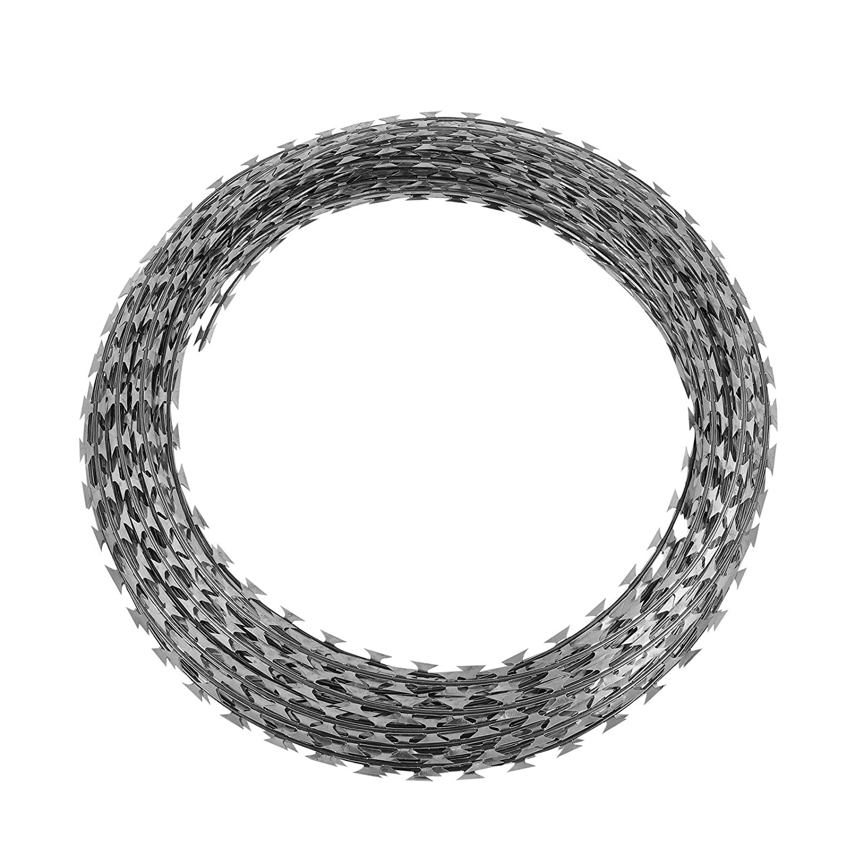 Amazon.com : OrangeA Razor Wire Galvanized Barbed Wire Razor Ribbon ...