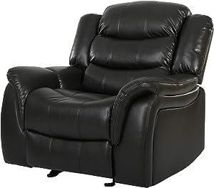 Great Deal Furniture Merit Black Leather Recliner