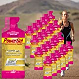 Power Gel Original mit Kohlenhydraten, Maltodextrin & Natrium – Energie Gels – Vegan – Strawberry Banana 24 x 41 g