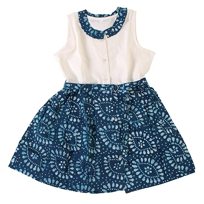 fcadedb6bd0 Twist Girls Kids Solid Linen Cotton Casual Frocks Dresses - Frock with  Frills