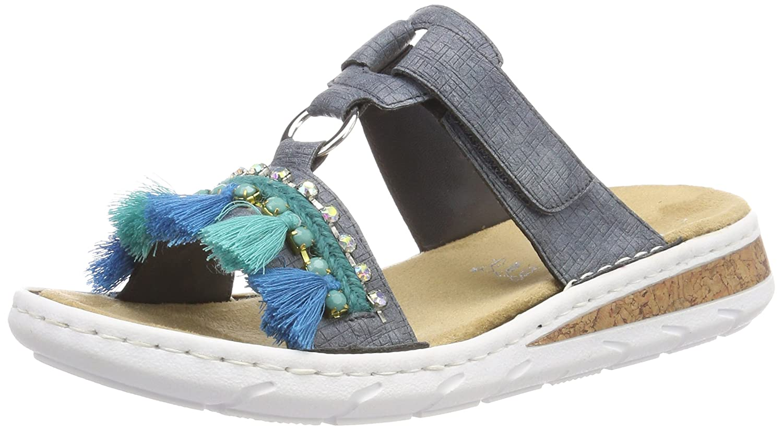 Rieker 618r6, Mules para Mujer 38 EU|Azul (Jeans)