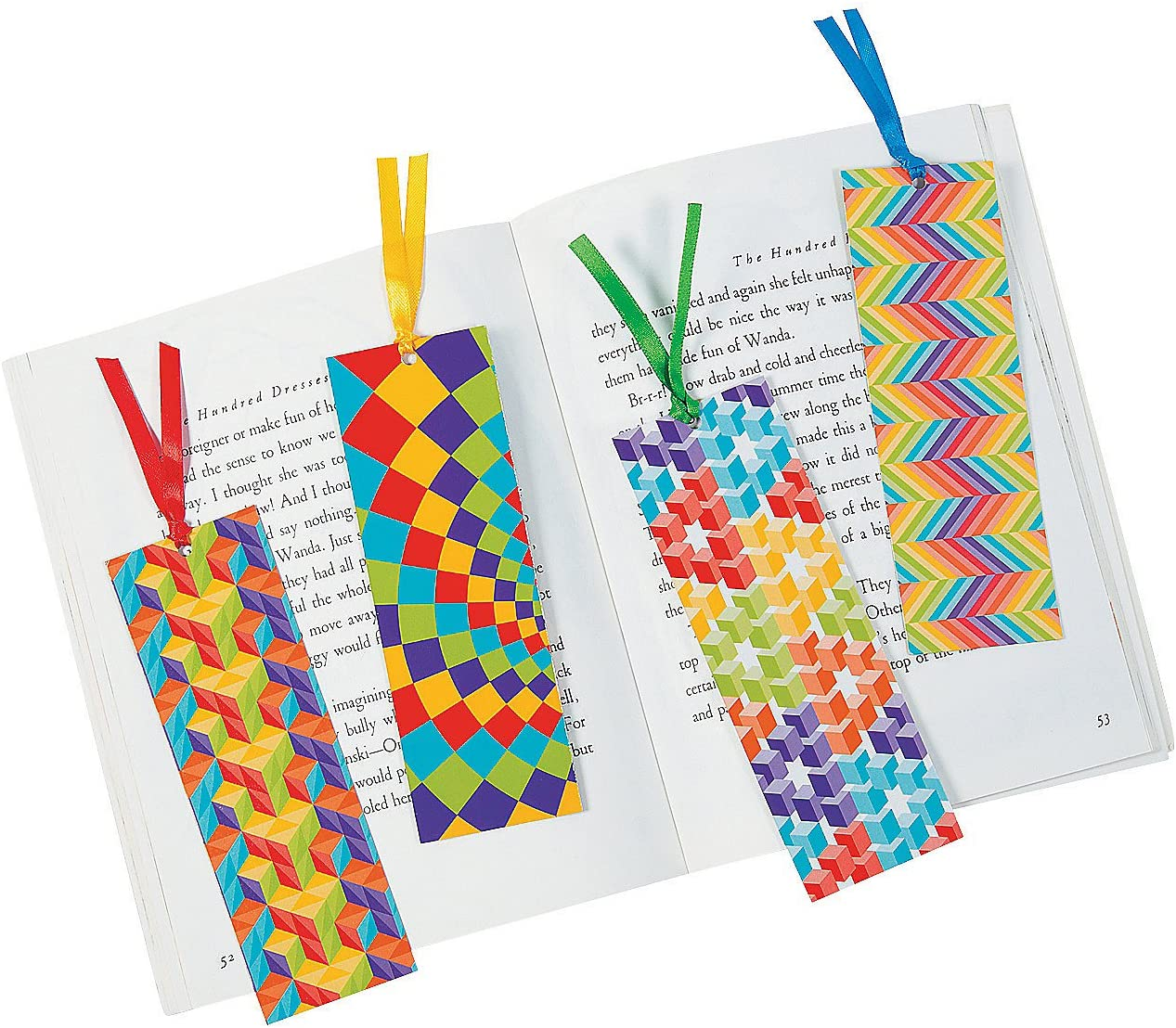 Amazon Com Fun Express Laminated Optical Illusion Bookmarks 48 Pieces Educational And Learning Activities For Kids Toys Games