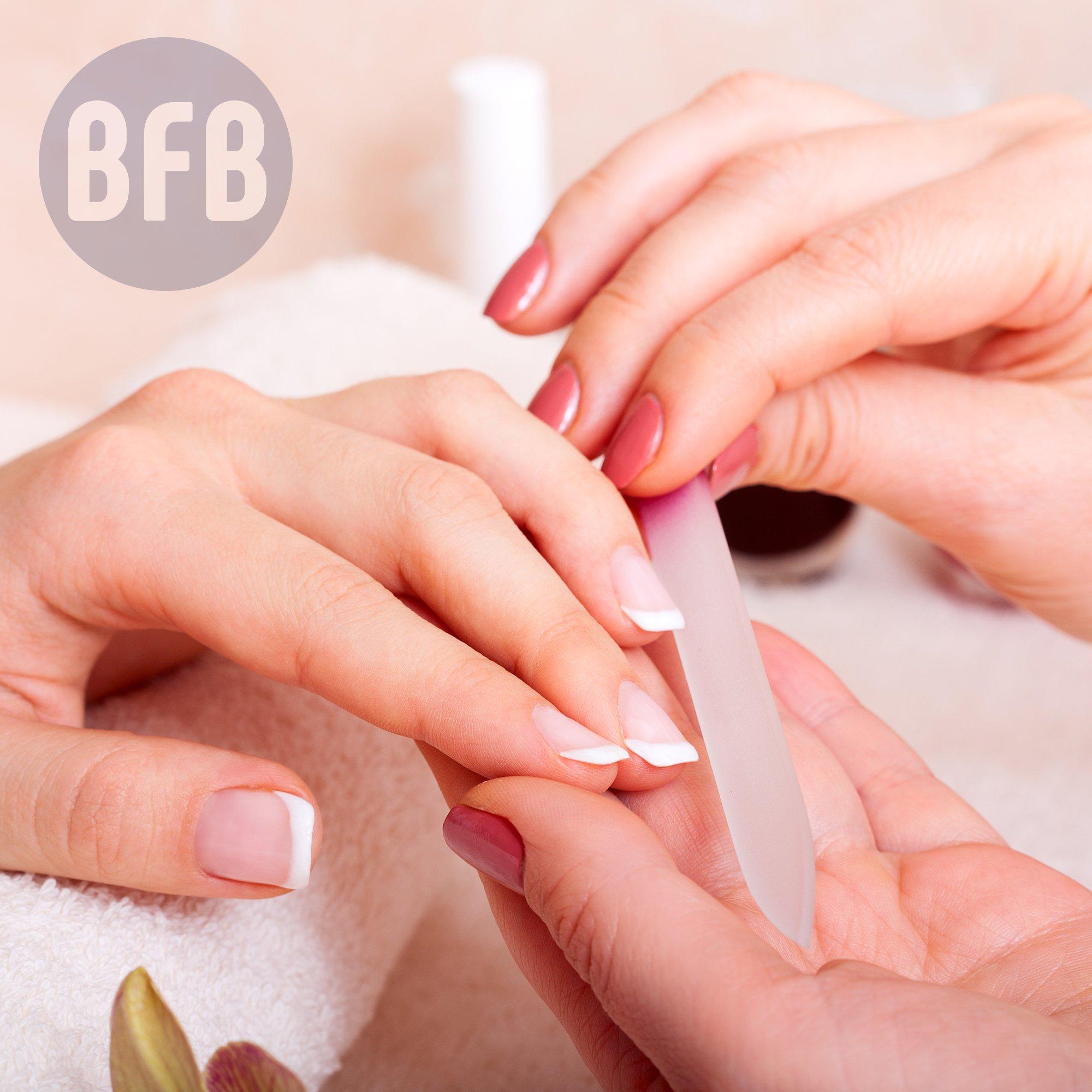 Glass Nail File Manicure Set, Fingernail File Nail Care, Manicure Tools by Bona Fide Beauty (5-Piece Set) Made in The Czech Republic by Bona Fide Beauty (Image #7)
