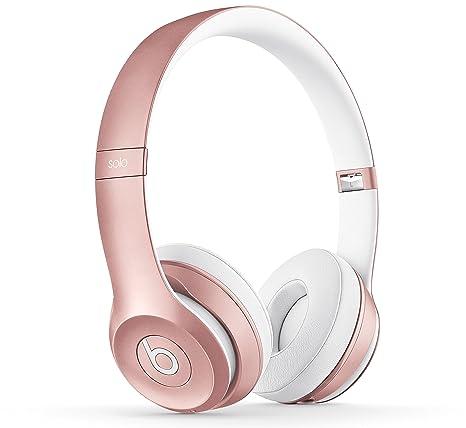 Beats Solo2 - Auriculares inalámbricos de Diadema, Color Oro Rosa