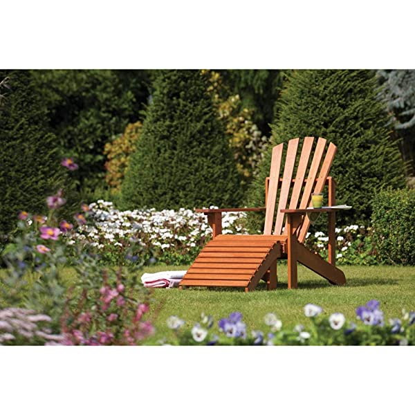 Bosmere English Garden Adirondack Chair with Ottoman