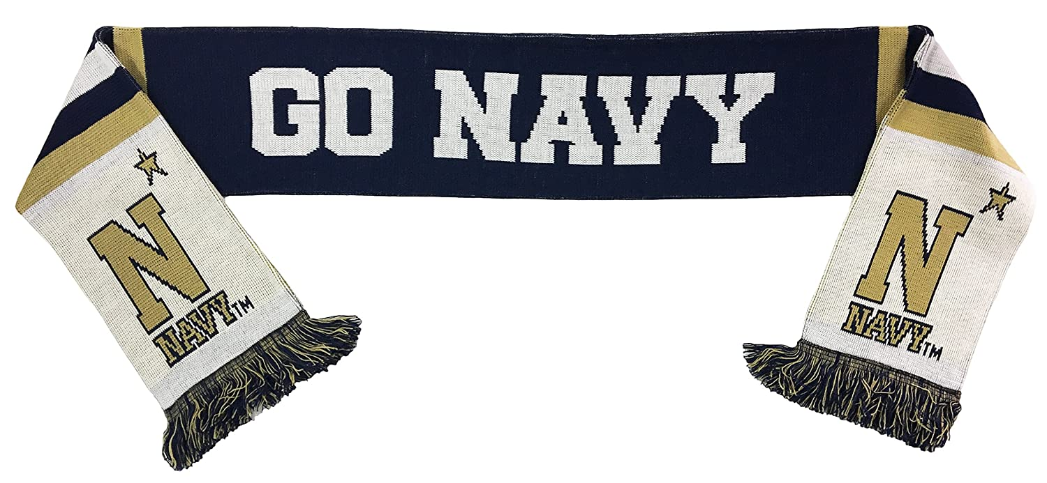 Design One Size Navy NCAA Scarf Navy /& Gold Go Navy Beat Army