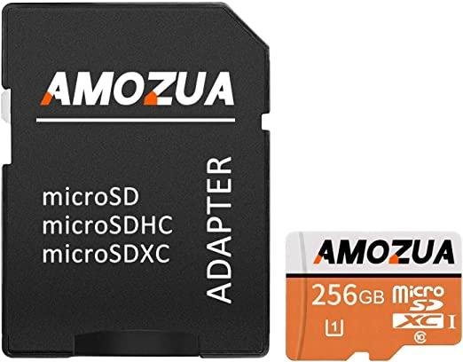 Micro SD Card 256GB Micro SD//HC Class 10 High Speed Memory Card for Phone,Tablet and PCs with Adapter