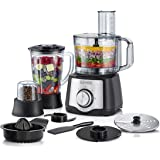 Black+Decker 600 W 29 Function Food Processor with Blender, Mill and Juicer, Black, FX650, 2 Year Warranty