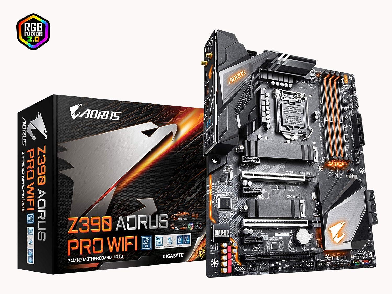 Gigabyte Z390 AORUS PRO WiFi (Intel LGA1151/Z390/ATX/2xM 2 Thermal  Guard/Onboard AC Wi-Fi/RGB Fusion/Gaming Motherboard)