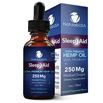 NatulabUSA - Sleep Aid Natural Sleep Aid - Ultra Hemp Oil - Pain Relief - Anxiety