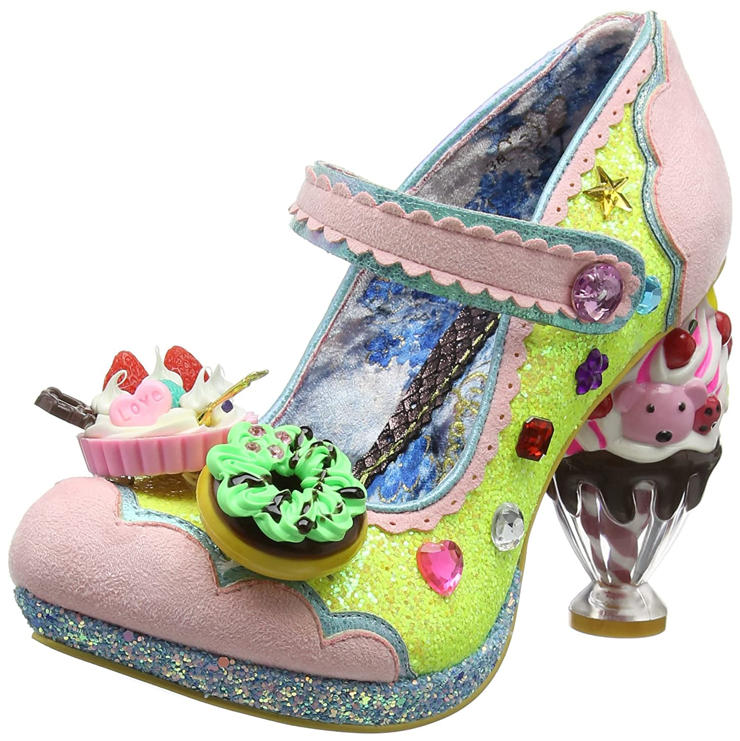 Irregular Choice Ice & A Slice, Mary Jane Donna  Giallo (Yellow Multi B)