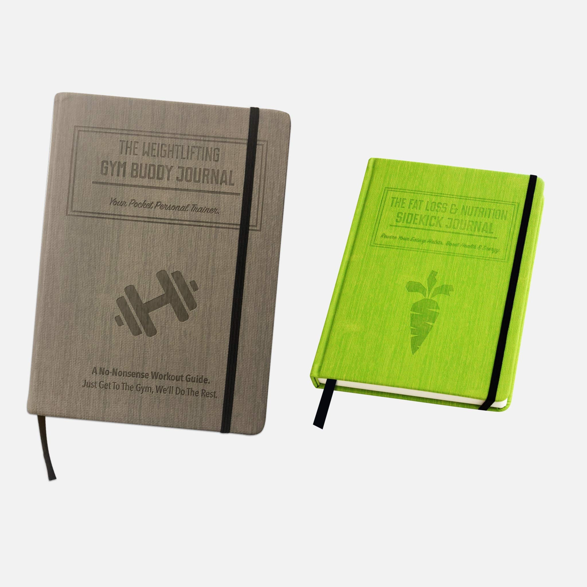 1x Weightlifting Gym Buddy Journal Bundle with 1x Fat Loss & Nutrition Sidekick Journal. Work Towards Your Fitness & Nutrition Goals simultaneously. by Habit Nest