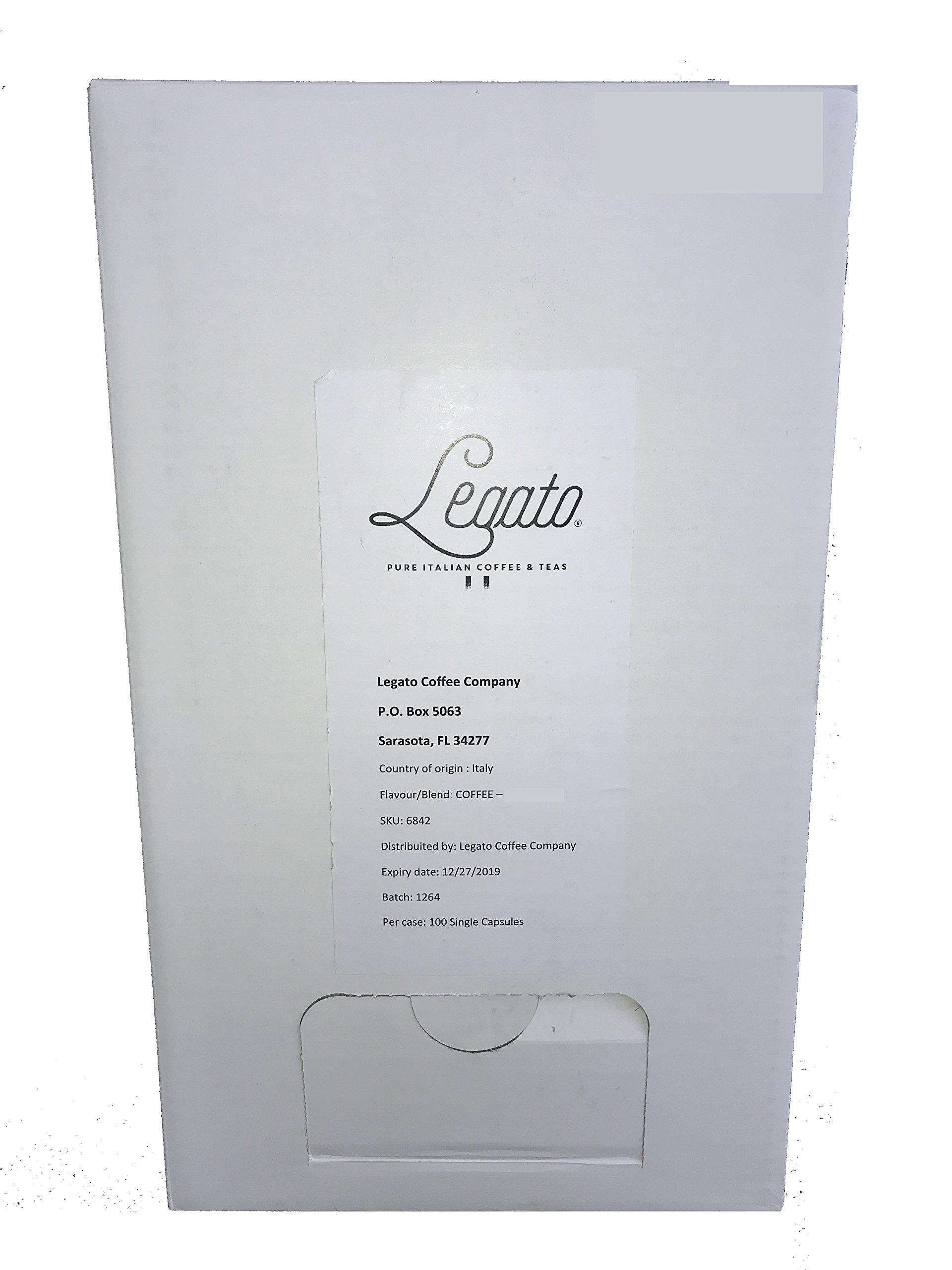 Legato Espresso Single Serve Capsules (French Roast, 100 Count)