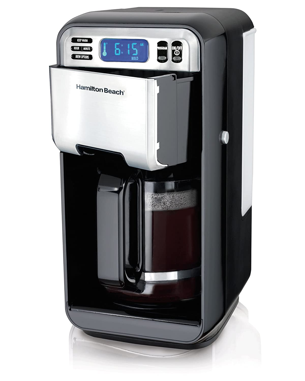 Amazon.com: Hamilton Beach 12-Cup Digital Coffee Maker, Stainless ...
