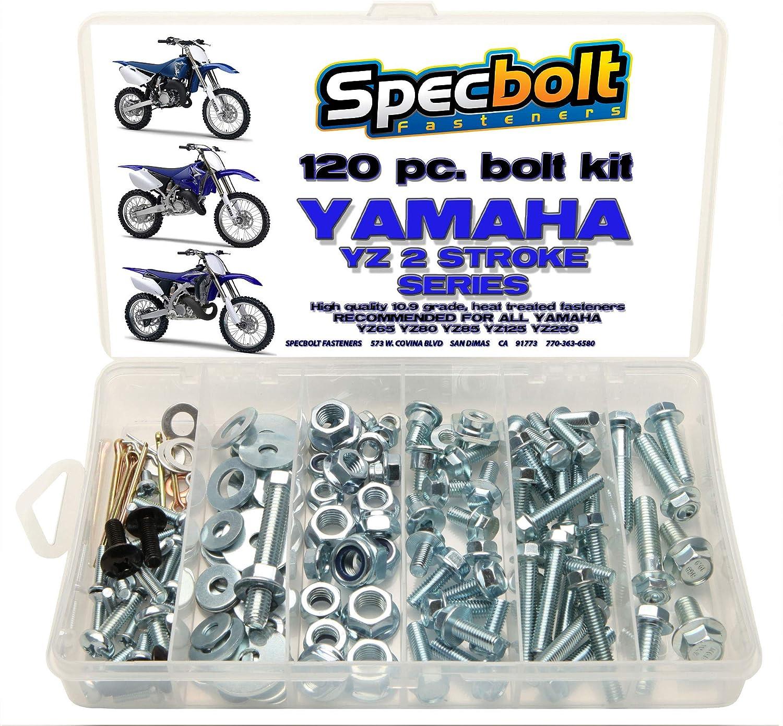 250pc Specbolt Bolt Kit for Yamaha YZ 80 85 125 250 for Maintenance Upkeep and Partial Restoration OEM Spec Fasteners YZ80 YZ85 YZ125 YZ250