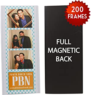 200 magnetic photo booth frames for 2 x 6 photo strips