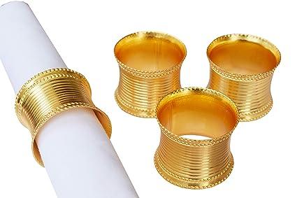 Light Pro Juego De 4 Servilletas De Metal Color Dorado Ideal