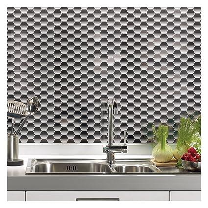 Tile Sheets For Kitchen Backsplash | Amazon Com Art3d Peel And Stick Kitchen Backsplash Wall Tile
